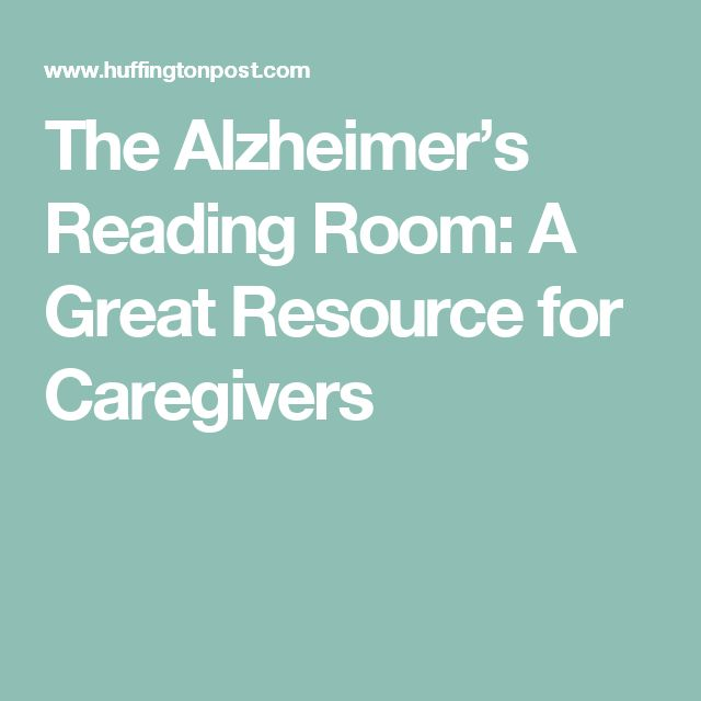 The Alzheimer's Reading Room: A Great Resource for Caregivers