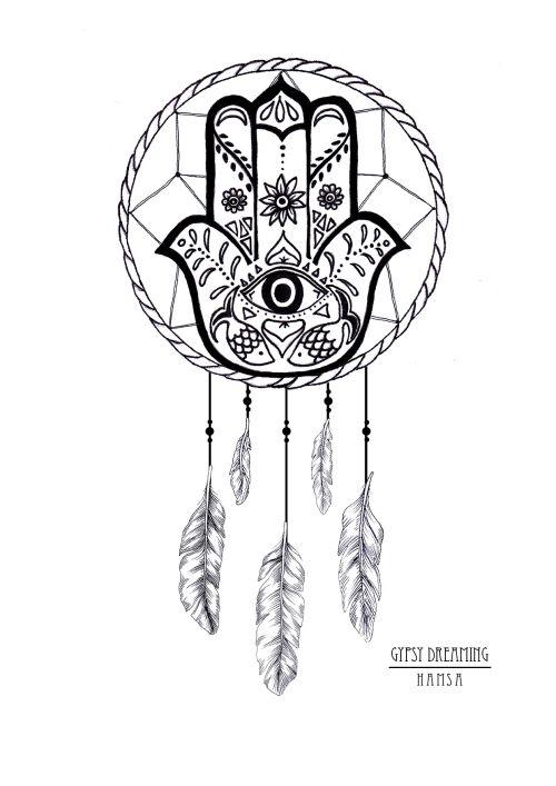 Gypsy Dreaming - Hamsa Dreamcatcher Sticker