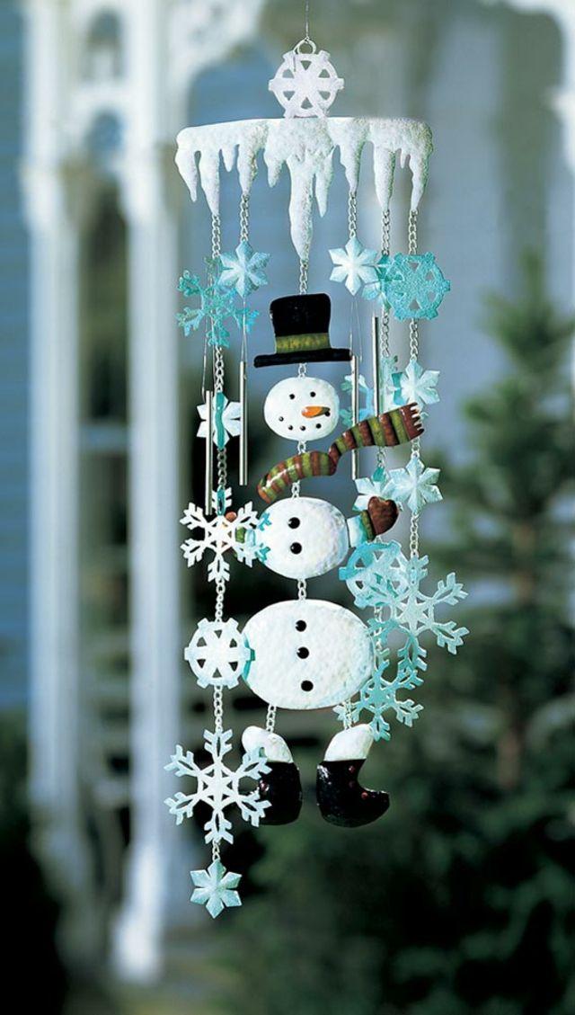 Petit bonhomme de neige en accessoire déco