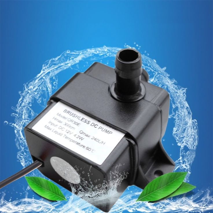DC 12V Micro Electric Brushless Water Pump Submersible Pumping For Aquarium Fish Fountain Garden