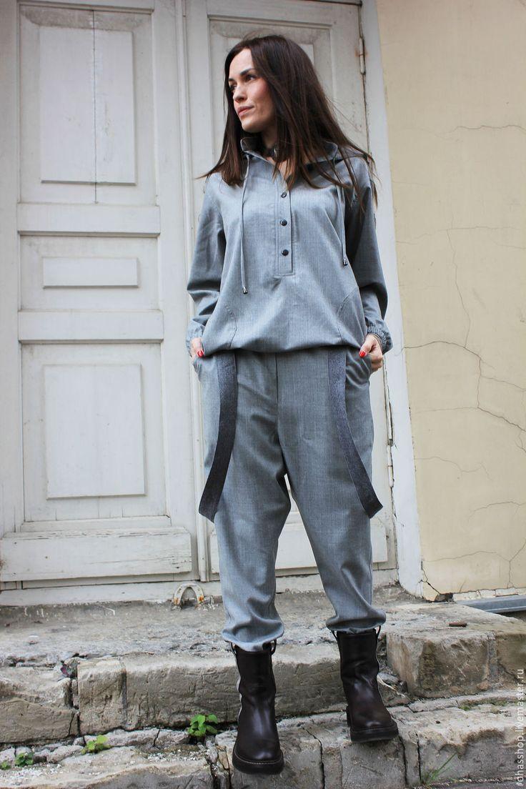 Купить Брюки Grey Fog - брюки, шерстяные брюки, брюки из шерсти, брюки женские