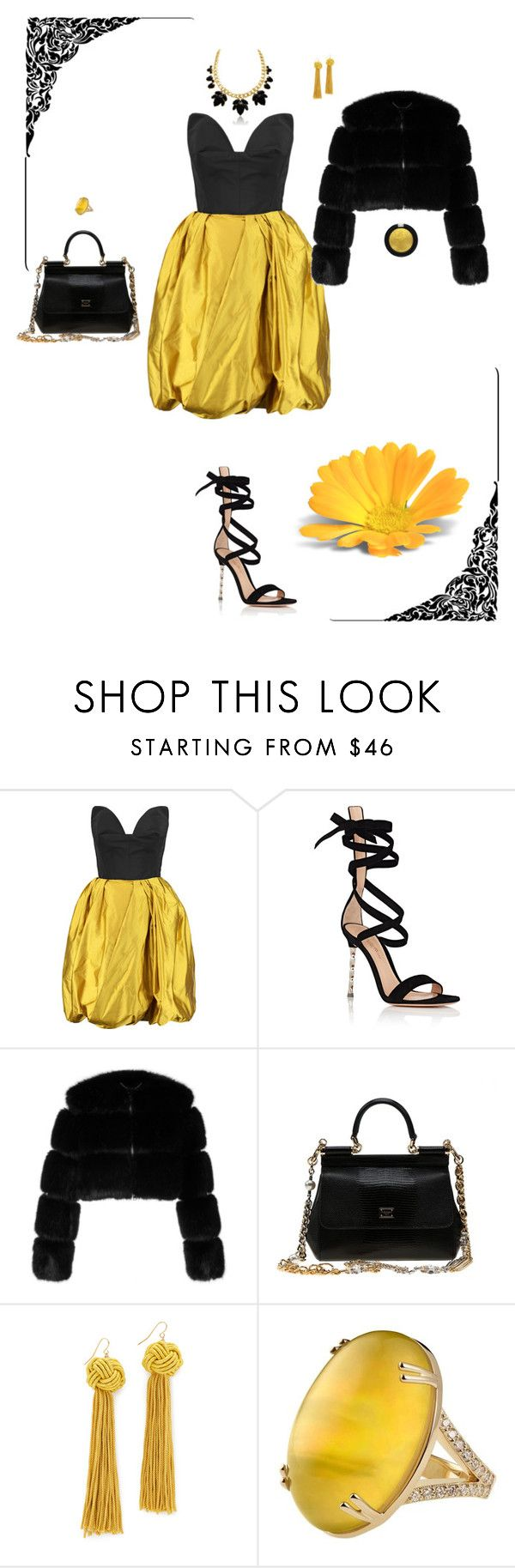 """Untitled #8725"" by erinlindsay83 ❤ liked on Polyvore featuring Oscar de la Renta, Gianvito Rossi, Givenchy, Dolce&Gabbana, Vanessa Mooney, Misahara and Pat McGrath"
