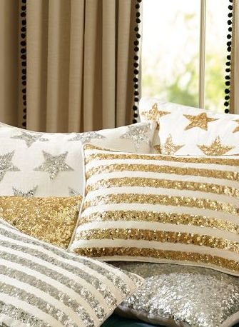 Gold sequin pillow covers http://rstyle.me/n/j2gddnyg6