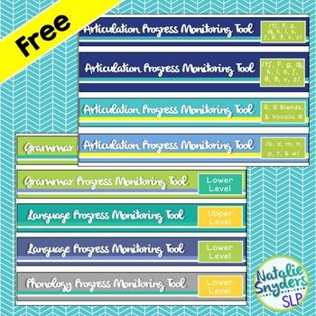 Binder Spines Labels for Speech Language Pathologists - Free
