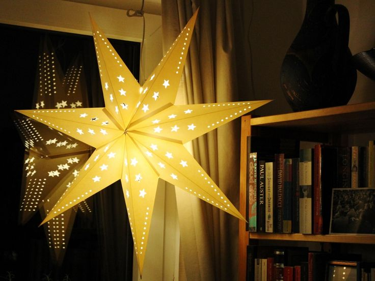 Christmas star in our family's home