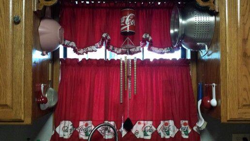 my coca cola kitchen curtains coke