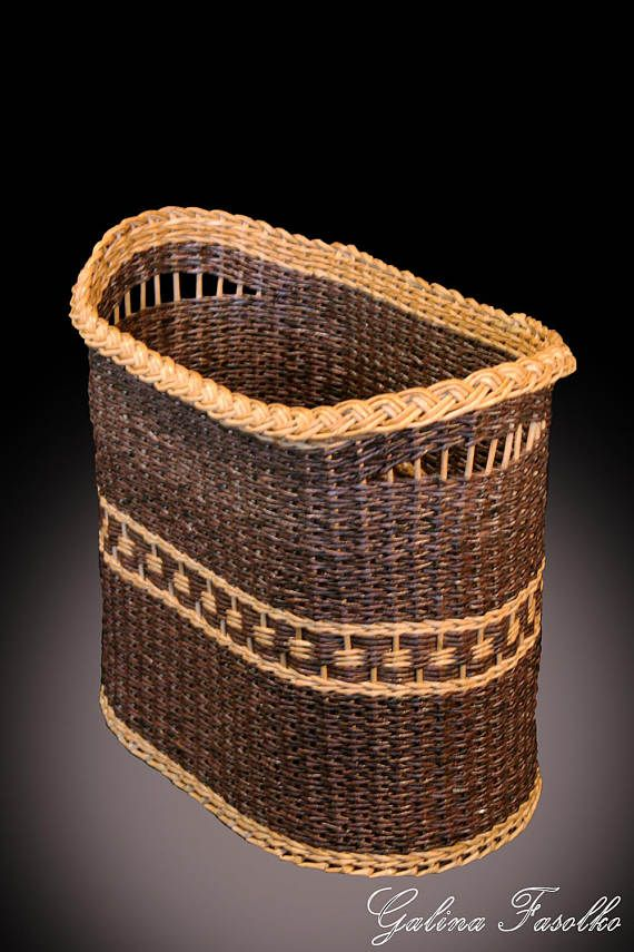 Handmade basket/Wicker laundry basket/storage basket/wicker