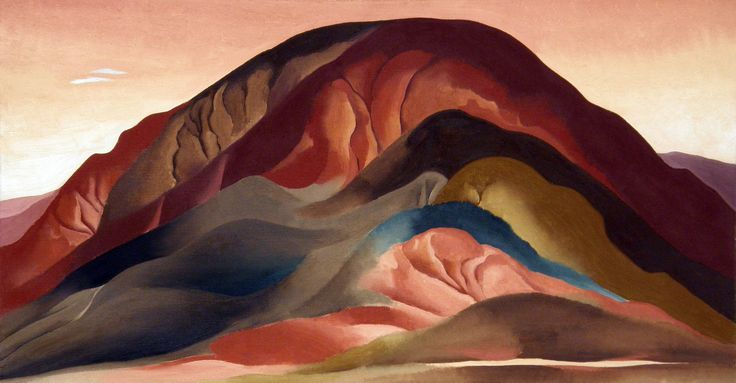 Georgia O'Keeffe, Rust Red Hills, 1930, Brauer Museum of Art, Valparaiso University Indiana, Sloan Fund Purchase, Georgia O'Keeffe Museum