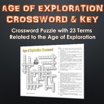 Age of Exploration - Crossword Puzzle and Key (23 Terms ...