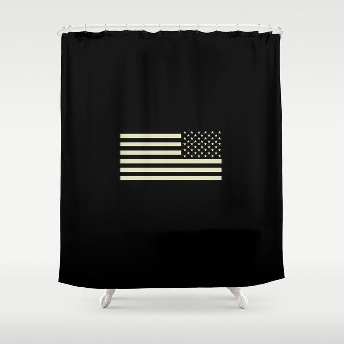 Buy Tactical Flag Shower Curtain By Jsdavies Worldwide Shipping