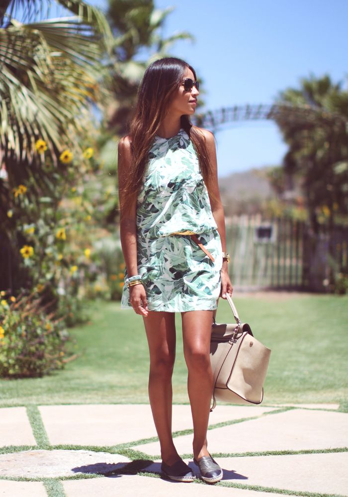 joie florinda palm print dress