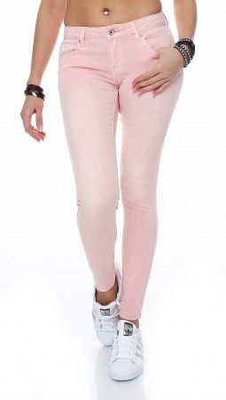 SKUTARI Luxus Damen Röhren Jeans Hose Skinny Slim Schlank Skinny Jeggings Stretch dehnbar Sexy Waist Taille Pencil Pants Color