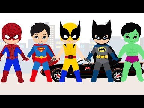 Kinderen Peuters en Kleuters leren de Superhelden! Nederlands / Dutch leren - YouTube