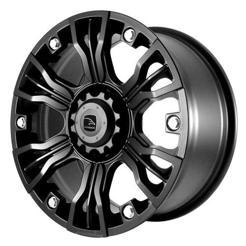 Exclusive to Tyres Direct. The Andor 17x8 ET18 Matte Black is a stylish and bold alloy wheel from Hawke Styling. Suitable for a wide range of 4x4s. #alloywheels #alloy #hawke #4x4wheels #andor