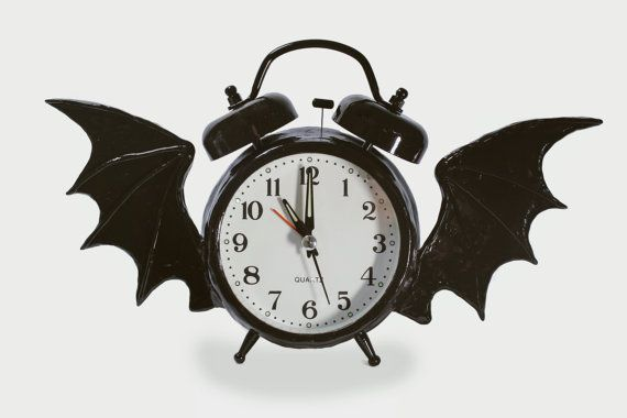 97ec0bab30a8f Alarm Clock Altered with Bat Wings