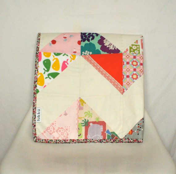 Hand quilted baby quilt by Lukku on Etsy, $189.00