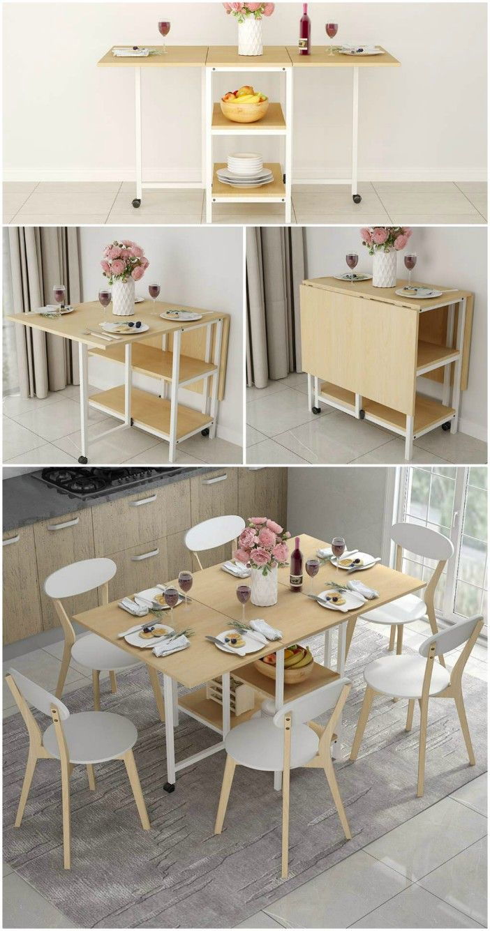 Twenty Dining Tables That Work Great In Small Spaces Dining Table Small Space Space Saving Dining Table Living Room Design Small Spaces #small #dining #table #for #living #room