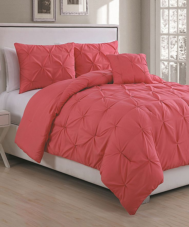 Another great find on #zulily! Coral Anabelle Comforter Set by Geneva Home Fashions #zulilyfinds