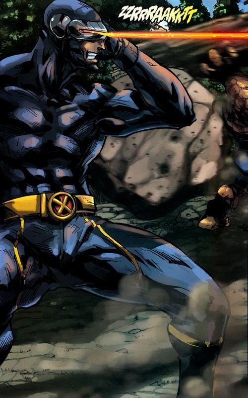 Cyclops in X-Men/Fantastic Four - Pat Lee (Pencils) Edwin Garcia (Backgrounds) Rob Armstrong (Inks) Alan Wang & Ramil Sunga (Colors)