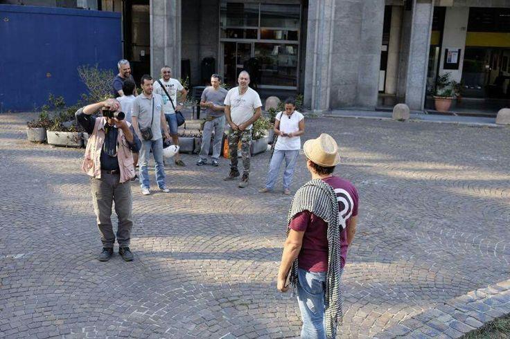NESSUNO È AL SICURO installazione artistica. Genova 10 settembre 2016