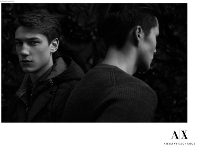 Armani Exchange Goes Black with Harvey James & Dae Na | Photographed by Laurence Ellis | Styled by Heathermary Jackson ❤️ NOV 12, 2014