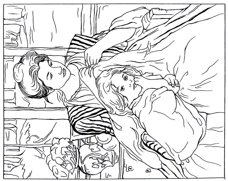 Mejores 126 im genes de great works of art coloring book for Mary cassatt coloring pages