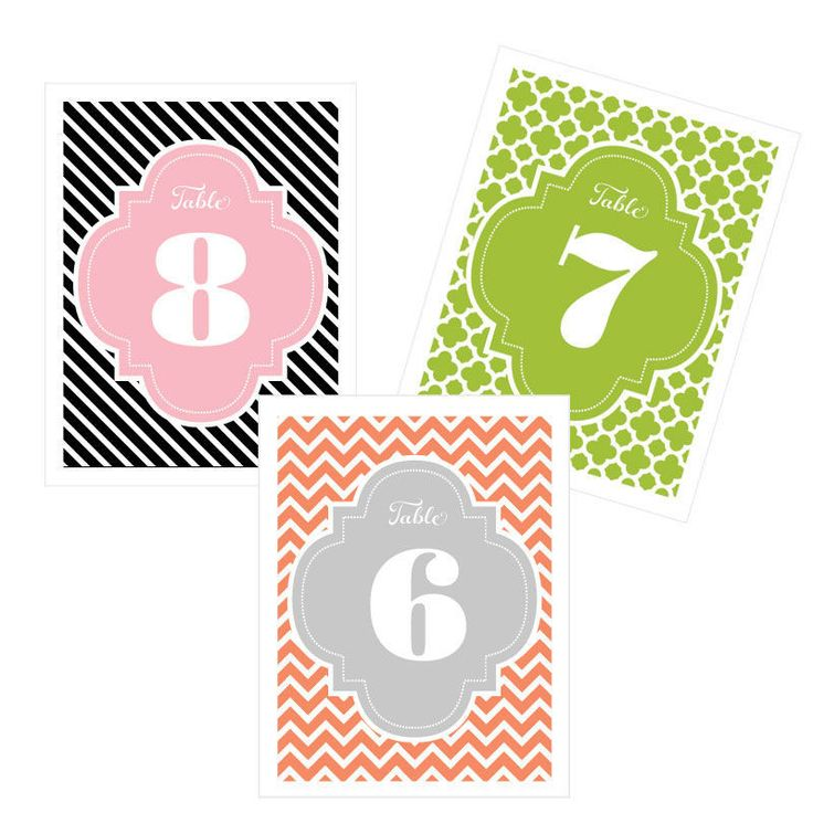 Custom color table numbers number your tables with a