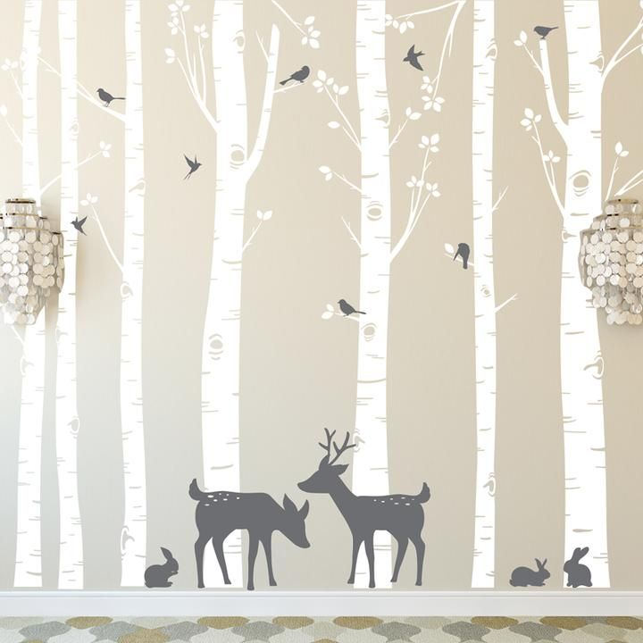 Stickers Decor Foret Enchantee En 2020 Chambre Bebe Animaux