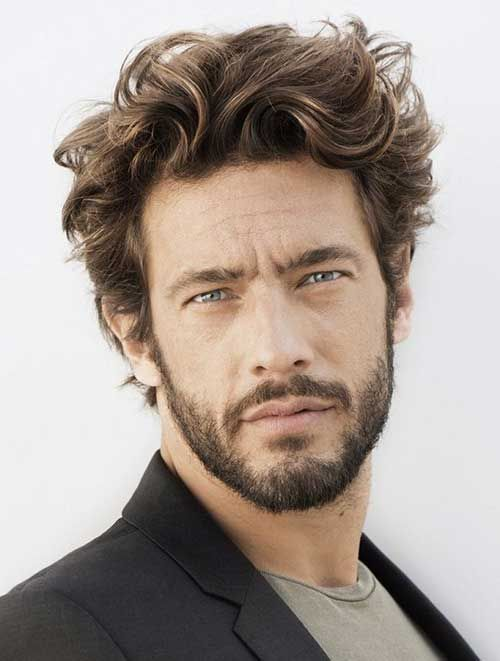 Check out these pictures 16 Haircuts for Wavy Hair Men, from short to medium length, to find your next style. This hairstyle trend makes the most of a full