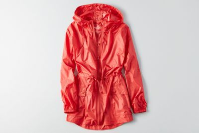 AEO Packable Rain Jacket  by  American Eagle Outfitters   Cool outsider: Style isn't in the wearing, it's in the doing. Layer it your way, and transition through the seasons like a pro. Shop the AEO Packable Rain Jacket  and check out more at AE.com.