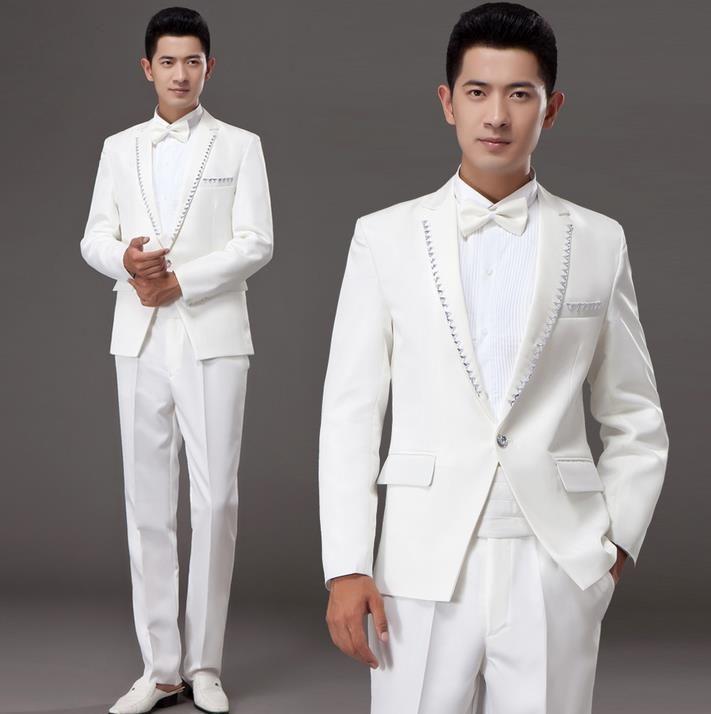 White korean diamond married formal dress set mens suits wedding groom men suit latest coat pant designs mens suits + pant + tie //Price: $94.64 & FREE Shipping //     #hashtag2