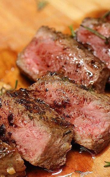 Garlic-Rosemary Steak Recipe — Dishmaps