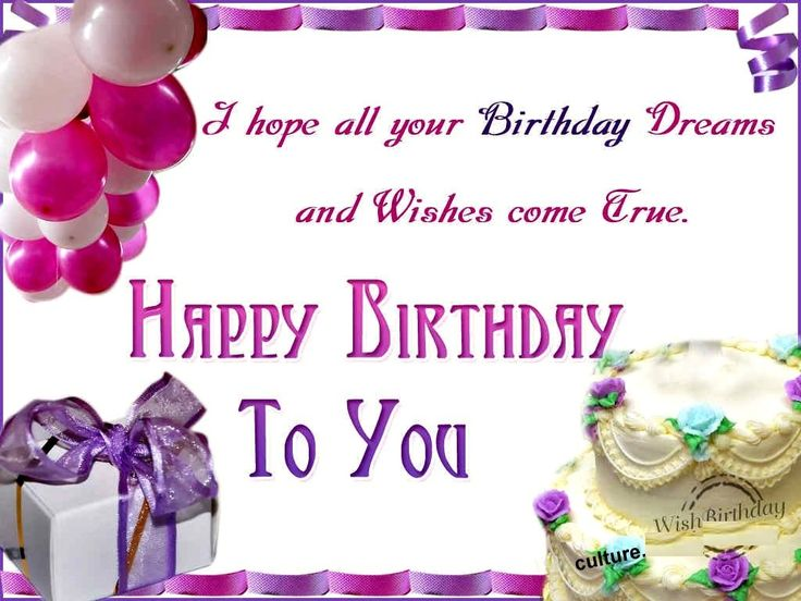 25+ best Happy birthday wishes images ideas on Pinterest