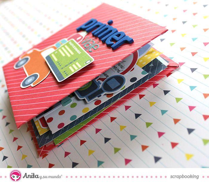 Mini lbum con encuadernaci n espiral canto album pinterest papercraft paper and scrap - Manualidades album de fotos casero ...