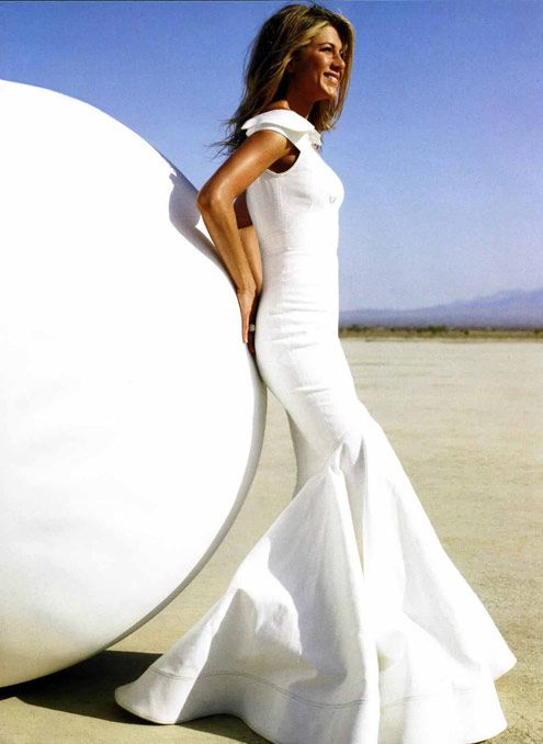 Jennifer Anniston wearing Zac Posen