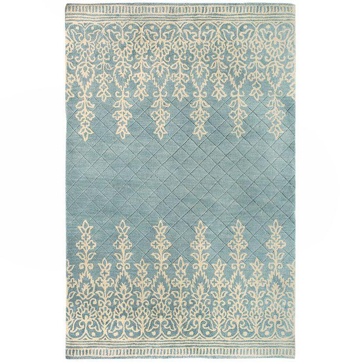 kushi border rug   light blue pier 1 imports decor por