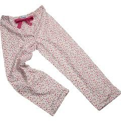 Cherry flower print brushed cotton PJ bottoms