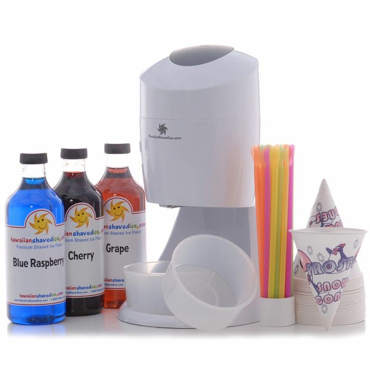 Hawaiian Shaved Ice Snow Cone Machine Party Package crusher syrup concentrate