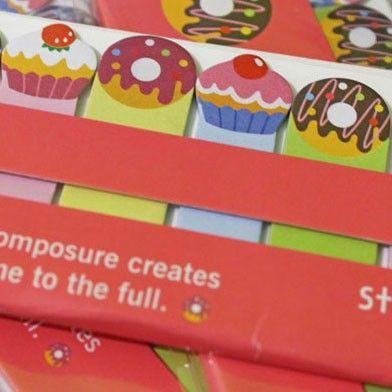 Marcapáginas adhesivos - Comidas Buy here: www.lacasadepapel.com