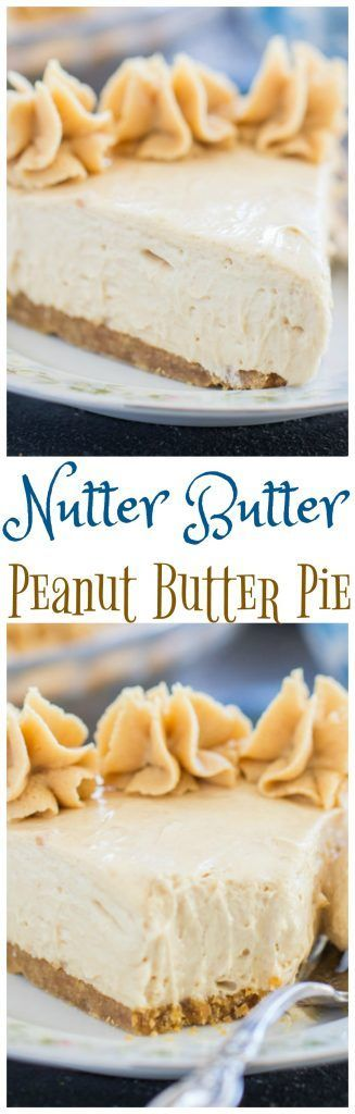Creamy, rich, peanut butter pie with a crunchy Nutter Butter cookie crust! This Nutter Butter No-Bake Peanut Butter Pie recipe is fast, easy, and ready in minutes!