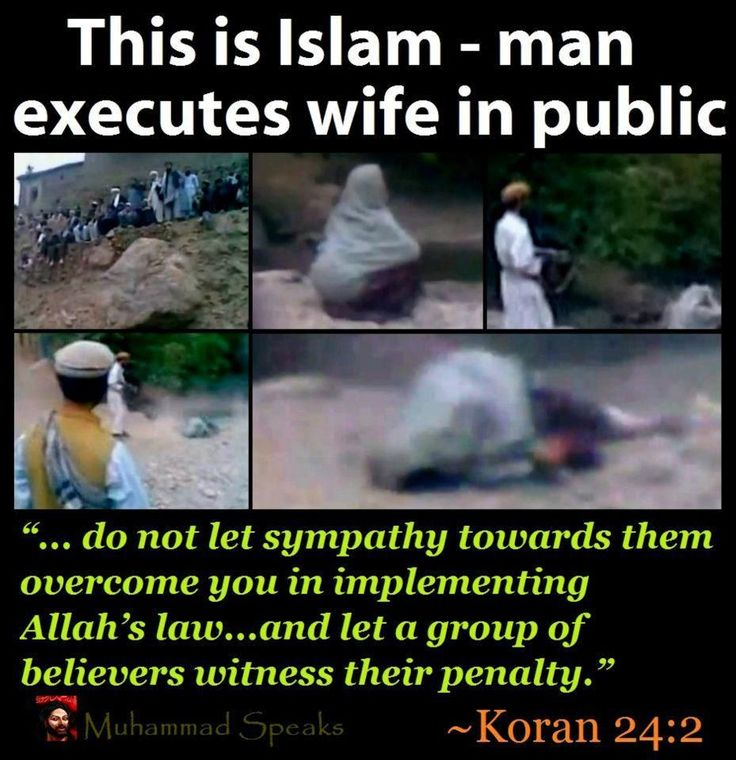 This is Islam: man executes his wife in public