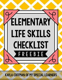 Life Skills Checklist for Elementary Special Education