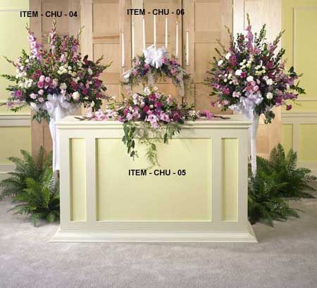 21 Best Wedding Alter Flower Arrangements Images On