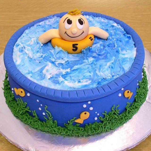 11 best swimming pool cakes images on pinterest pools swimming pool cakes and swimming pools for Swimming pool birthday cake pictures