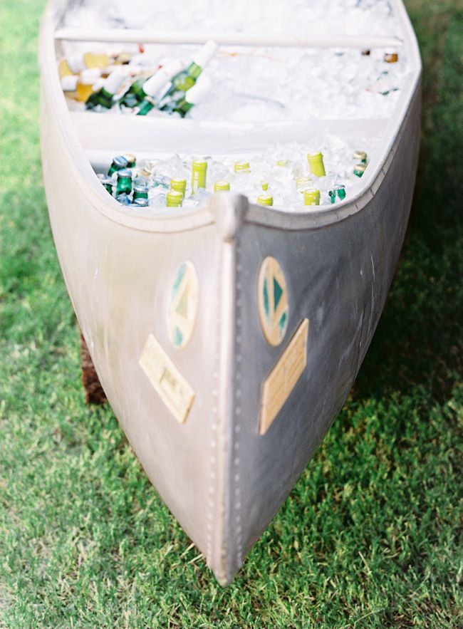 Galvanized Canoe Cooler | photography by http://claryphoto.com/