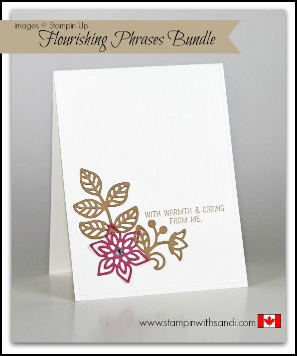 Flourishing Phrases in 10 or Less - Stampin With Sandi - Canadian Stampin Up Demonstrator