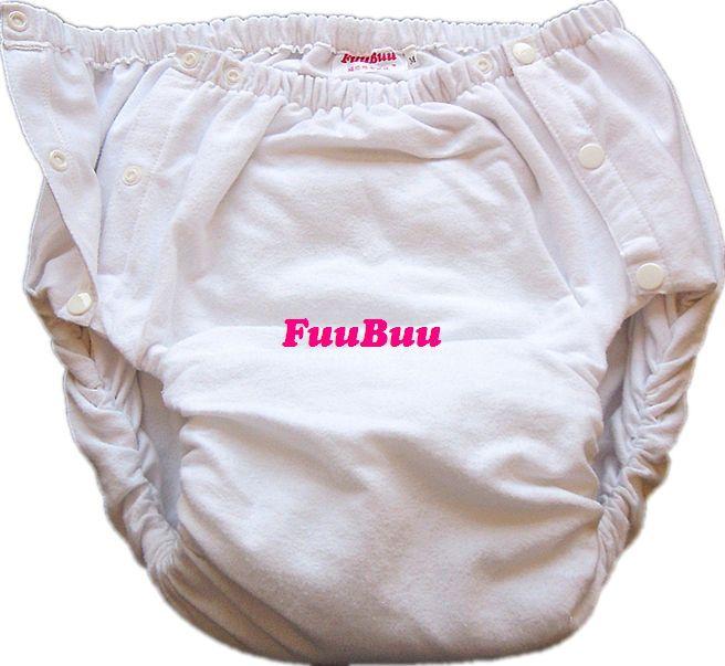 Free verzending fuubuu2042-white volwassen luier/incontinentie broek/luier aankleedkussen/volwassen baby