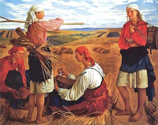 Zinaida Yevgenyevna Serebriakova (Russian artist, 1884-1967) Harvest 1915
