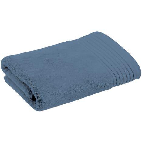 Serviette de toilette coton égyptien 630gr/m2 YSE(Bleu Moyen, 50x100 cm)