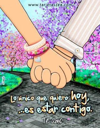 manos de Linis y Jorge entrelazadas © ZEA www.tarjetaszea.com